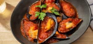 mejillones en salsa gallega